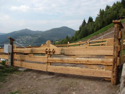 Cancello recinzione in legno